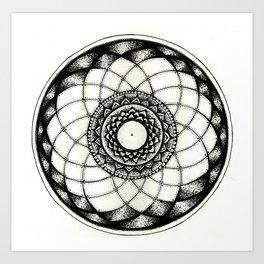 complicated flower Art Print