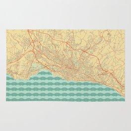 Lausanne Map Retro Rug