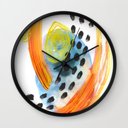 Cool Breeze Abstract Watercolor Wall Clock