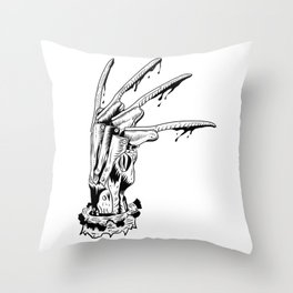 Krueger glove Throw Pillow