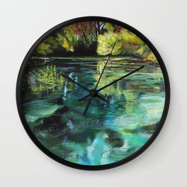 """""""Placidity in Greens"""" Juniper Springs, FL Wall Clock"""