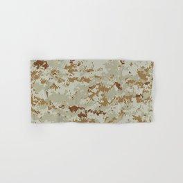 CAMOUFLAGE. Desert MARPAT camouflage pattern swatch. Hand & Bath Towel