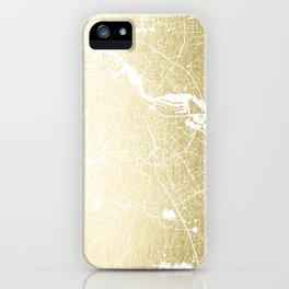 Amsterdam Gold on White Street Map iPhone Case