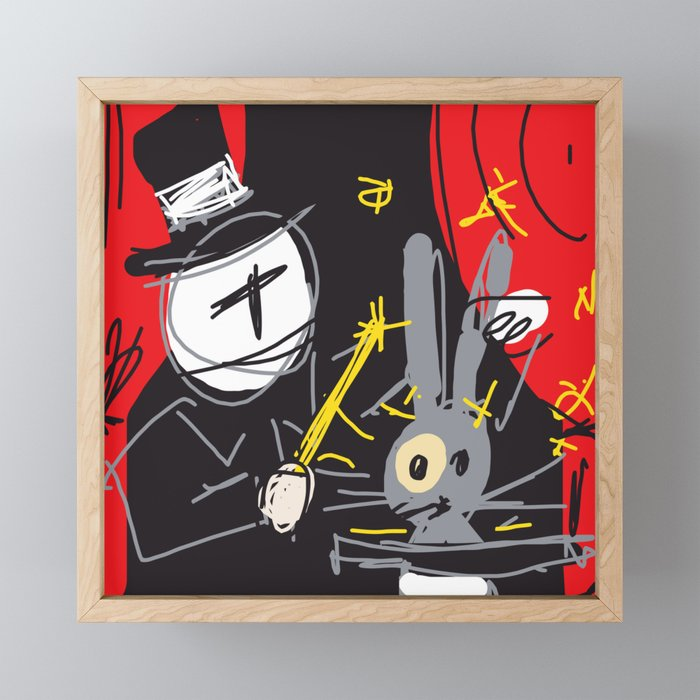 Magic Trick Framed Mini Art Print