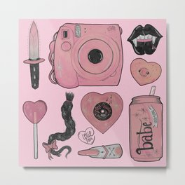 GIRLY STUFF Metal Print