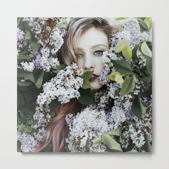Lilac girl Metal Print