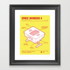 ARCADE CAB - SPACE INVADERS II Framed Art Print