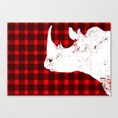 Animals Illustration - Rhinos Canvas Print