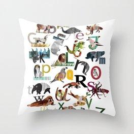 Animal ABC Throw Pillow