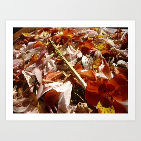 Flowers on a table  Art Print