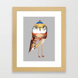 Hat Owl. Framed Art Print