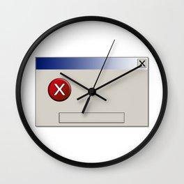 Error box clean empty Wall Clock