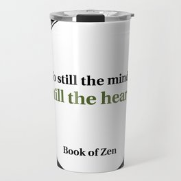 Inspirational Peace and Serenity Quote Travel Mug
