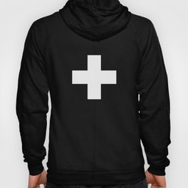 Swiss Cross Black and White Scandinavian Design for minimalism home room wall decor art apartment Hoody