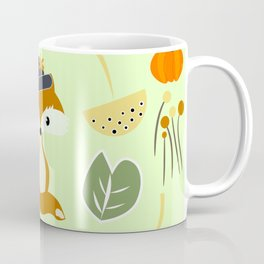 Cute fox in autumn Coffee Mug
