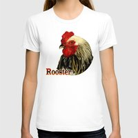 rooster T-shirts featuring Rooster by LudaNayvelt