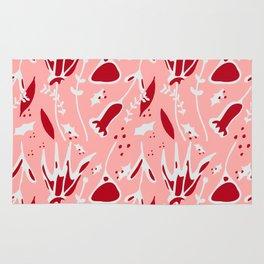 winter floral pink Rug
