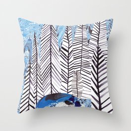 Forest lake Throw Pillow