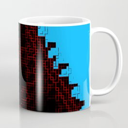 Blood-red pixel triforce Coffee Mug