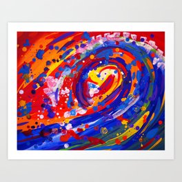 Abstract Wave Persuasion  Art Print