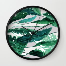 Horizontal Leaves Wall Clock