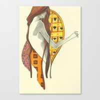 gustav klimt Canvas Prints featuring gustav klimt by Lily Snodgrass