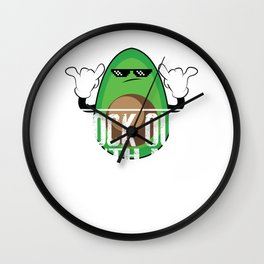 Rock Out with My Guac Out – Funny Vegan Gift Wall Clock