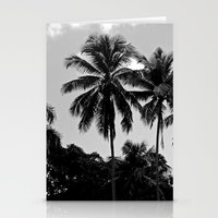 puerto rico Stationery Cards featuring Palm Trees Puerto Rico by Derek Delacroix