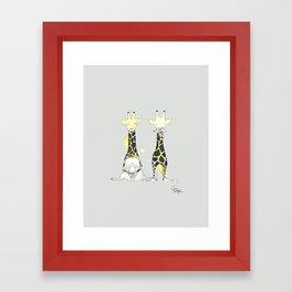 Twinning Framed Art Print