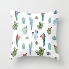 tropical forever Throw Pillow