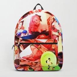 LIZ SELLEY ART ORIGAMI PIN UPS Backpack