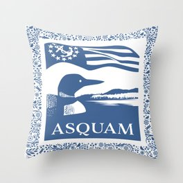 ASQUAM Throw Pillow