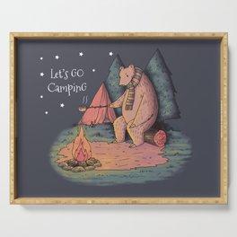 Camping Bear Serving Tray