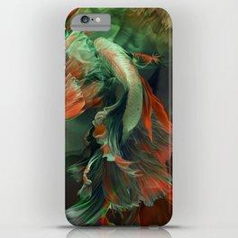 """Betta splendens Deep water (Siam fighter)"" iPhone Case"