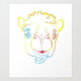 Camel Strokes Art Print