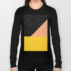 Peach Fuzz Black Polka Dot /// www.pencilmeinstationery.com Long Sleeve T-shirt