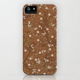 Chocolate Mocha Paw Prints iPhone Case