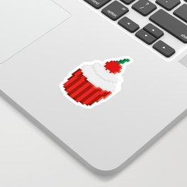Cherry Cupcake Sticker