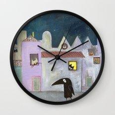 city of cats Wall Clock