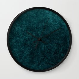 Teal Blue Velvet Texture Wall Clock