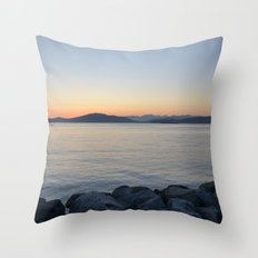 on a western shore Throw Pillow