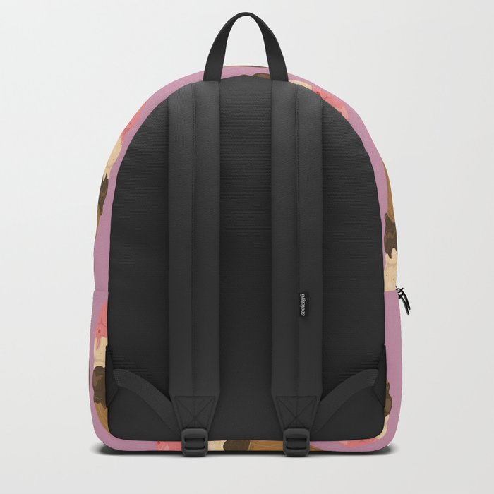neapolitan ice cream pattern, millennial pink Backpack