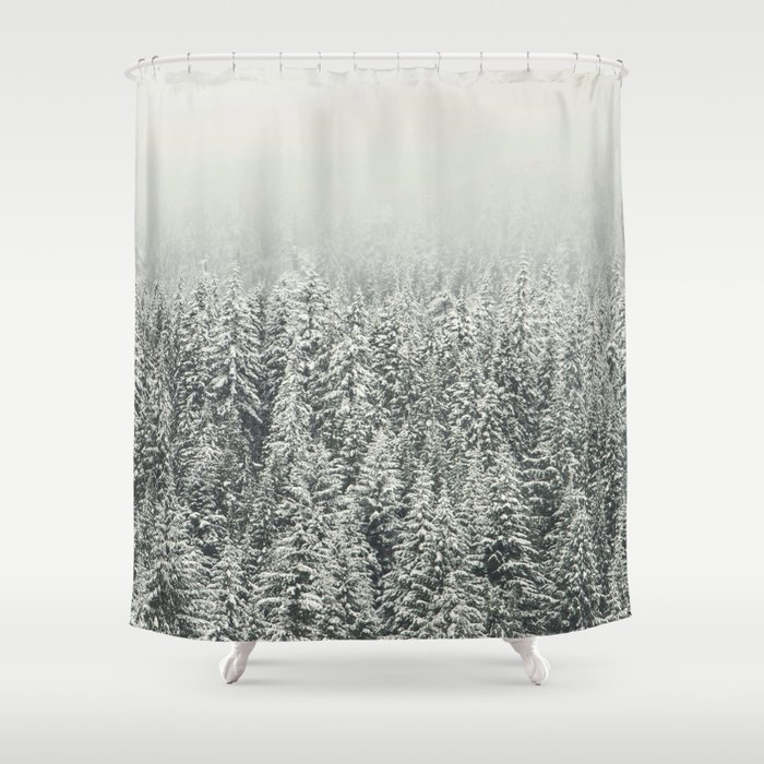 Snow Forest Shower Curtain