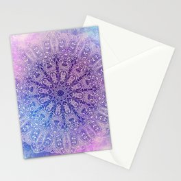 big paisley mandala in light purple Stationery Cards
