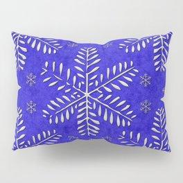 DP044-10 Silver snowflakes on blue Pillow Sham