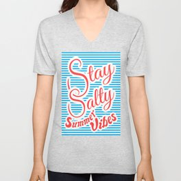 Stay Salty, Summer Vibes (blue version) Unisex V-Neck