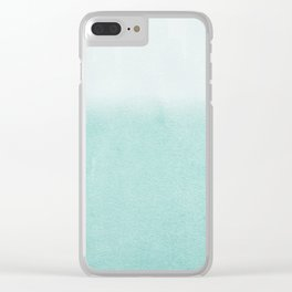 FADING AQUA Clear iPhone Case