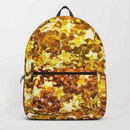 Glittering Golden Stars Backpack