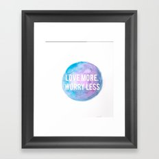 Worry Less Framed Art Print