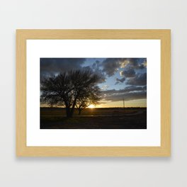 Sunset around the block from home Framed Art Print